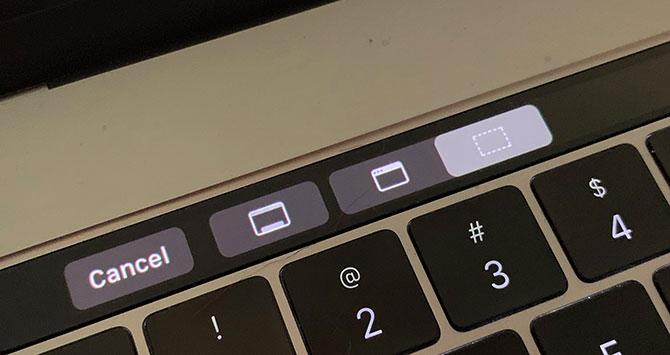 Chụp màn hình Macbook với Touch Bar