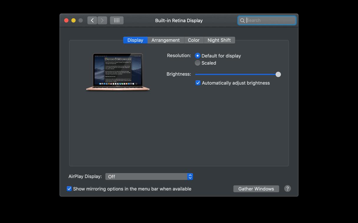 Giảm độ sáng màn hình Macbook
