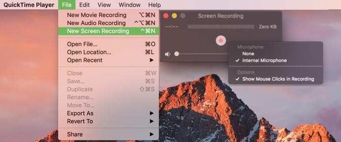 Quay phim màn hình Mac với QuickTime Player