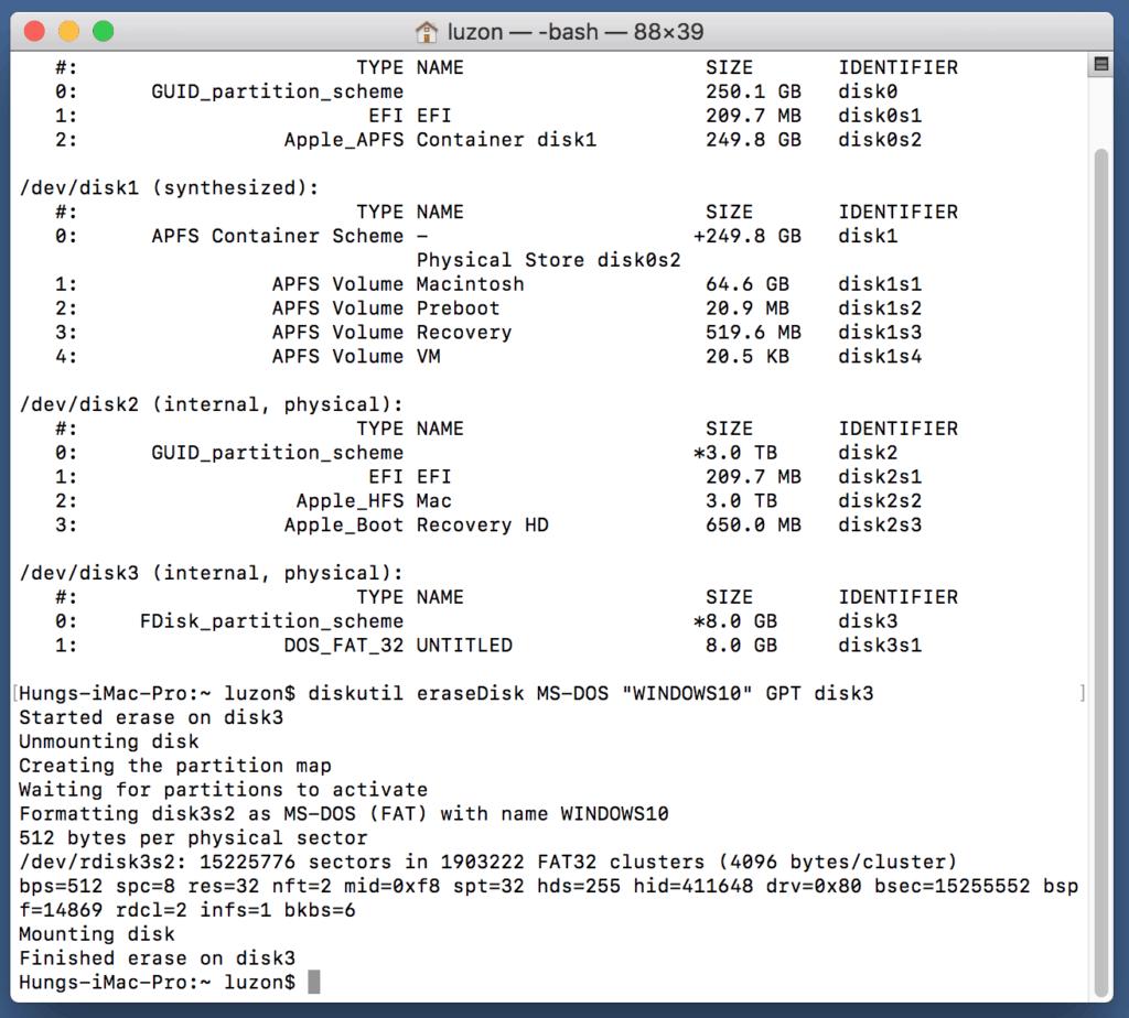 """diskutil-eraseDisk-MS-DOS-""""WINDOWS10""""-GPT-disk"""