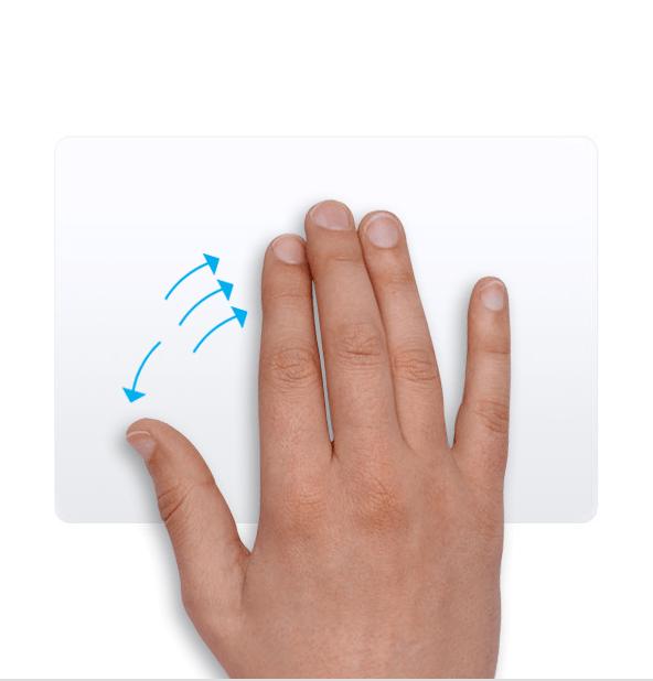 Trackpad - Mở màn hình Desktop