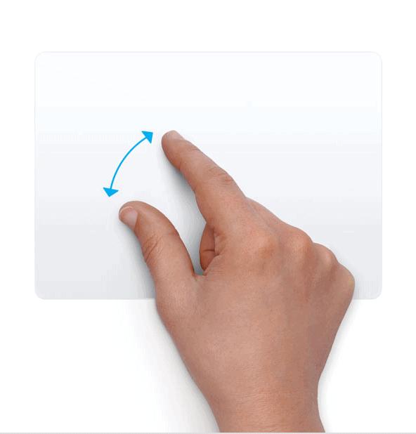 Trackpad - Phóng to và Thu nhỏ