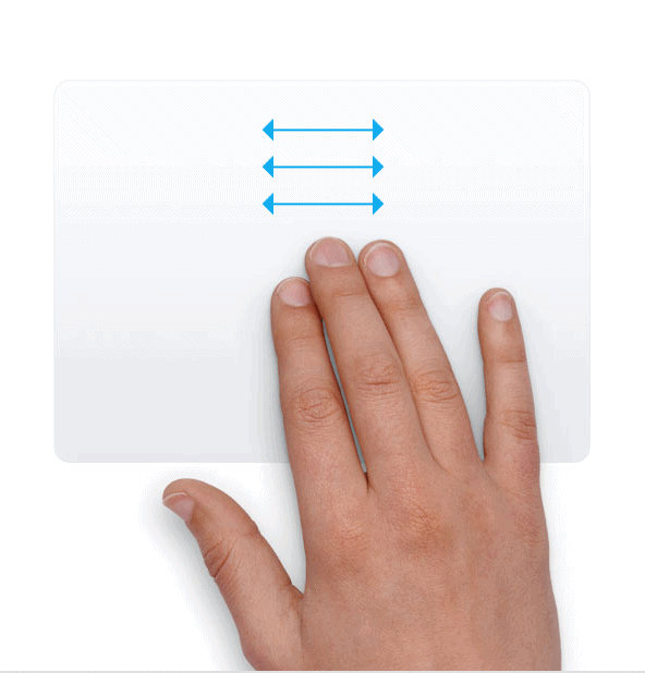 Trackpad - Vuốt 3 ngón tay