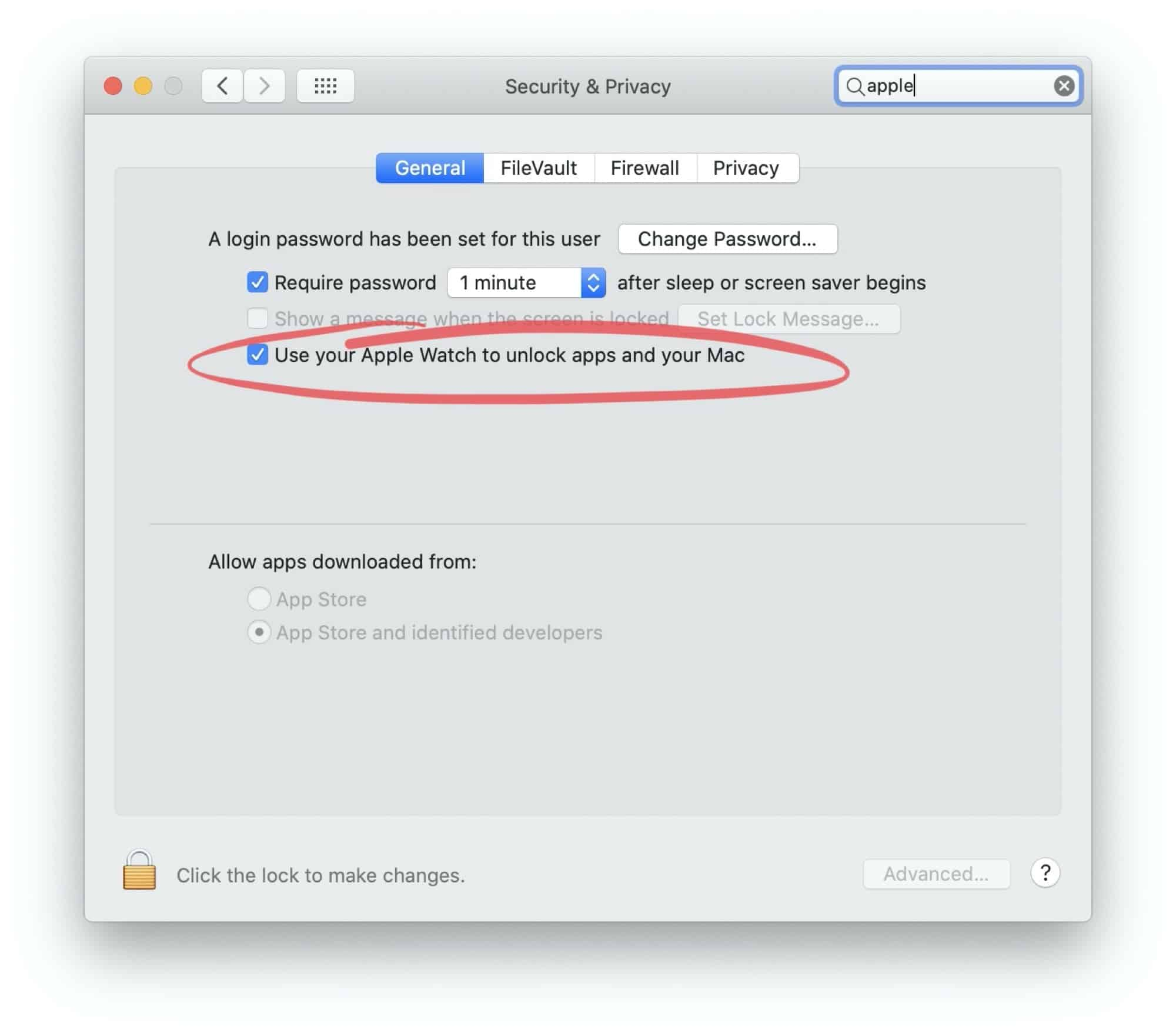 Mở khóa Macbook với Apple Watch